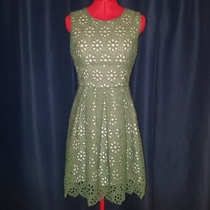 Alter'd State Olive Green Lace Dress